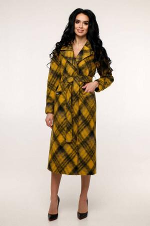 Жіноче пальто «Палома» жовтого кольору