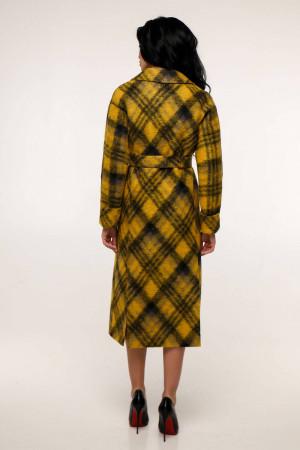 Женское пальто «Палома» желтого цвета