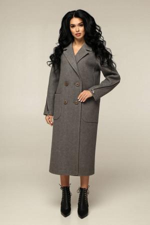 Жіноче пальто «Босх» темно-оливкового кольору