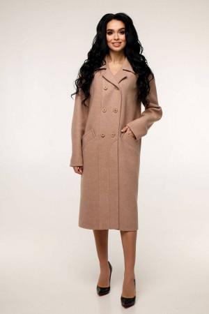 Женское пальто «Дэгра» желто-коричневого цвета