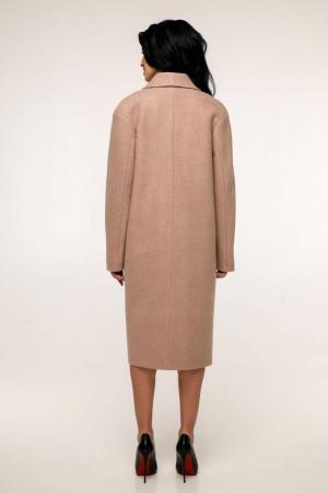 Жіноче пальто «Дегра» жовто-коричневого кольору
