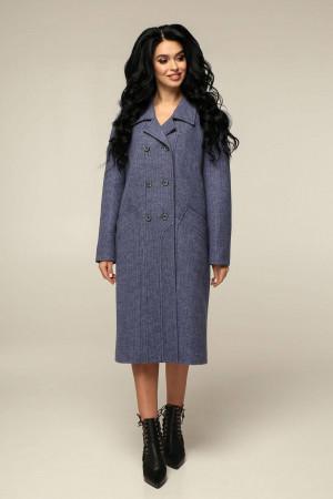 Женское пальто «Дэгра» цвета ночного неба