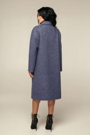 Жіноче пальто «Дегра» кольору нічного неба