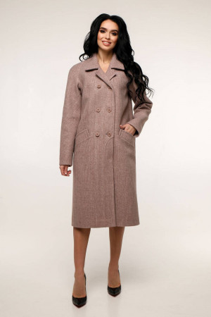 Женское пальто «Дэгра» розово-коричневого цвета