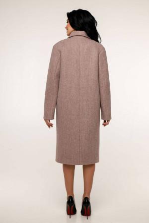 Жіноче пальто «Дегра» рожево-коричневого кольору