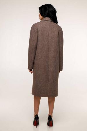 Жіноче пальто «Дегра» кавового кольору