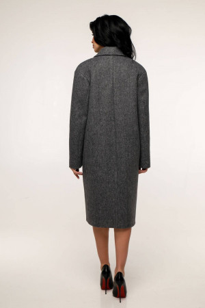 Жіноче пальто «Дегра» темно-сірого кольору