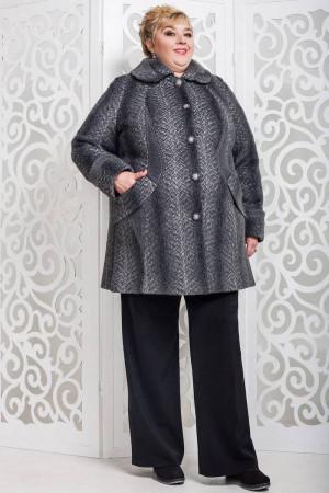 Жіноче пальто «Дасті» сірого кольору