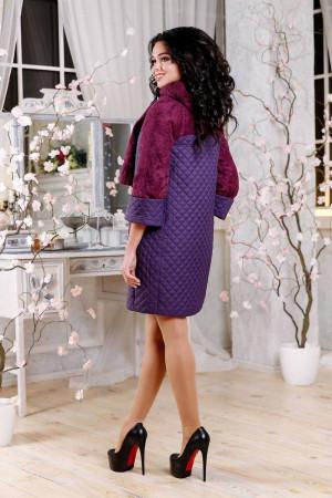 Женское пальто «Сольвей» фиолетового цвета
