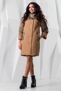 Жіноче пальто «Сольвей» бежевого кольору
