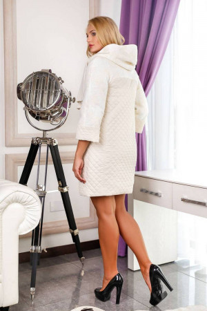 Жіноче пальто «Сольвей» білого кольору