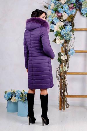 Пуховик «Брасс» фіолетового кольору