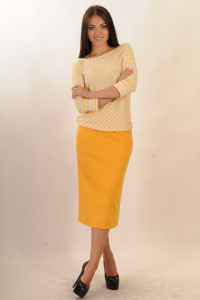 Спідниця «Сіті» жовтого кольору