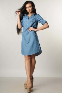 Платье «Тейли» синее с декором