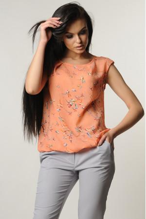Блуза «Китти» персикового цвета