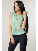 Блуза «Кітті» м'ятного кольору