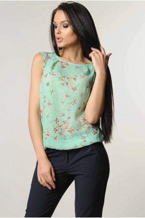 Блуза «Китти» мятного цвета