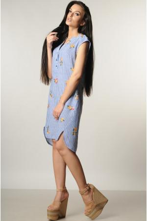 Платье «Лана» с желтыми цветами