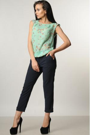 Костюм «Кітті»: сині брюки, блуза кольору м'яти