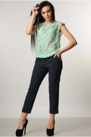 Костюм «Китти»: синие брюки, блуза цвета мяты