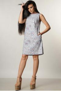 Платье «Отти» серого цвета