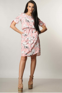 Платье «Феличе» розового цвета