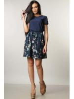 Платье «Элли» темно-синего цвета