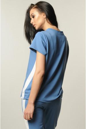 Блуза «Нои» голубого цвета