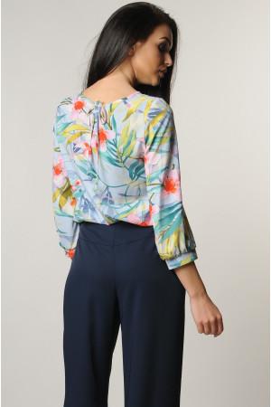 Блуза «Мірей» блакитного кольору