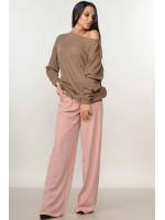 Костюм «Мікаель-Шер»: пудрові брюки та світшот кольору капучино