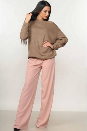 Костюм «Микаэль-Шэр»: пудровые брюки и свитшот цвета капучино