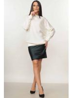 Костюм «Микаэль-Спэйс»: черная юбка и свитшот молочного цвета