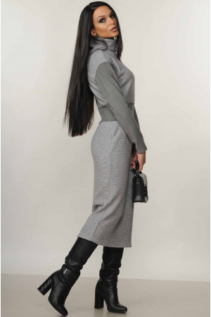 Платье «Алсу» серого цвета