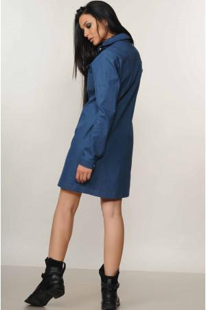 Платье «Дениз» синего цвета