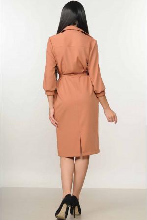 Платье «Диона» терракотового цвета