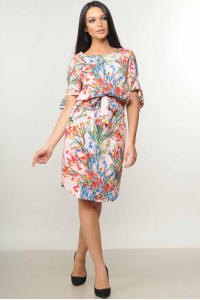 Платье «Феличе» розового цвета с цветочным принтом