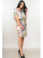 Сукня «Феліче» кольору ваніль з квітковим принтом