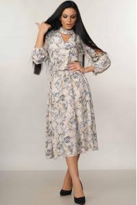 Платье «Бохо-миди» молочного цвета
