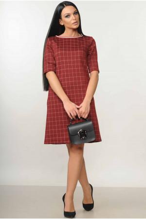 Платье «Мэри» бордового цвета