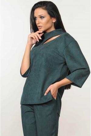 Блуза «Роу» кольору смарагд