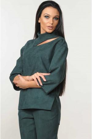 Блуза «Роу» цвета изумруд