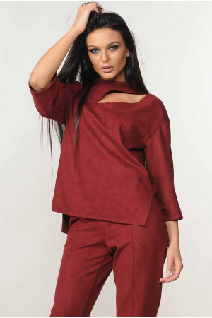 Блуза «Роу» бордового цвета
