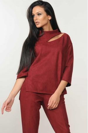 Блуза «Роу» бордового кольору