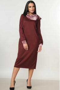 Сукня «Мегі» бордового кольору
