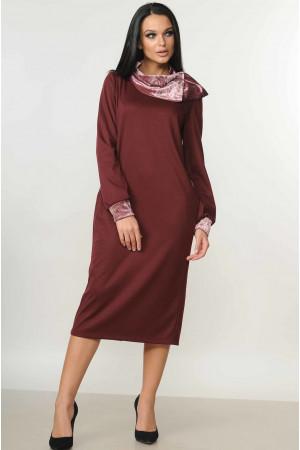 Платье «Мегги» бордового цвета