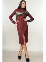 Платье «Нона» бордового цвета