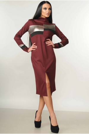 Сукня «Нона» бордового кольору