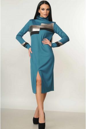 Платье «Нона» бирюзового цвета