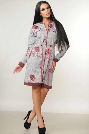 Платье «Рики» бордового цвета