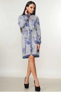 Платье «Рики» синего цвета
